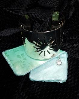 Solal Bijoux Haute Fantaisie manchon réversible vert