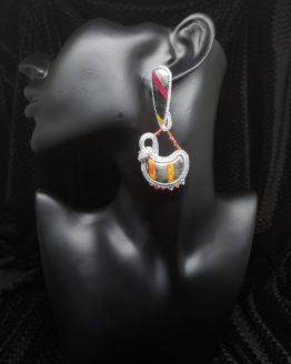 Solal Bijoux Haute Fantaisie boucles d'oreilles argent et multicouleur