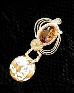 Solal Bijoux Haute Fantaisie bijou nomade beige et or