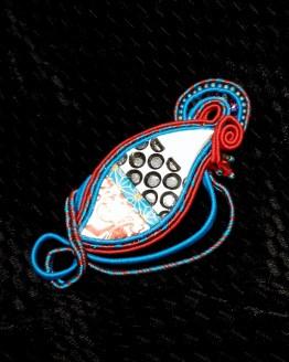 Solal Bijoux Haute Fantaisie bijou nomade bleu blanc et rouge