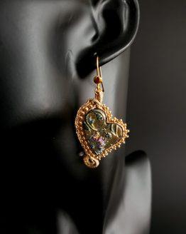 boucles d'oreilles dorées Solal Bijoux Haute Fantaisie