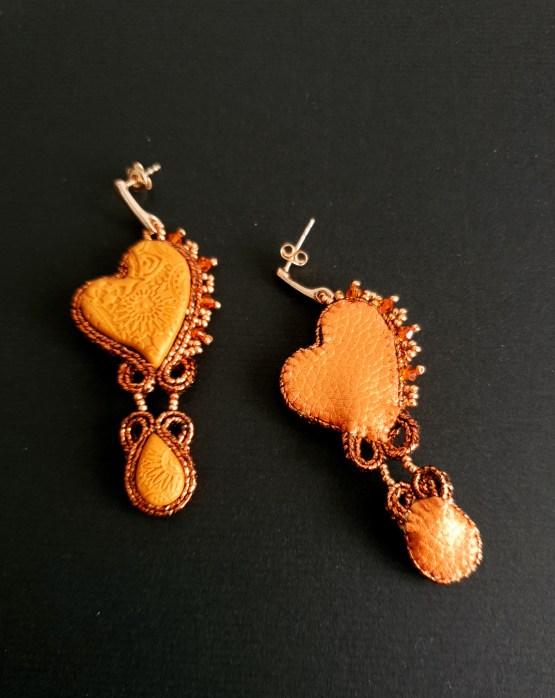 boucles d'oreilles orange Solal Bijoux Haute Fantaisie