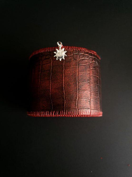 Manchette et manchon réversible bordeau Solal Bijoux Haute Fantaisie