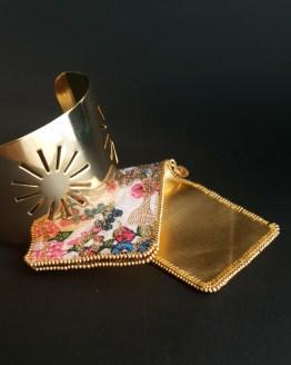 Manchette et manchon réversible doré Solal Bijoux Haute Fantaisie