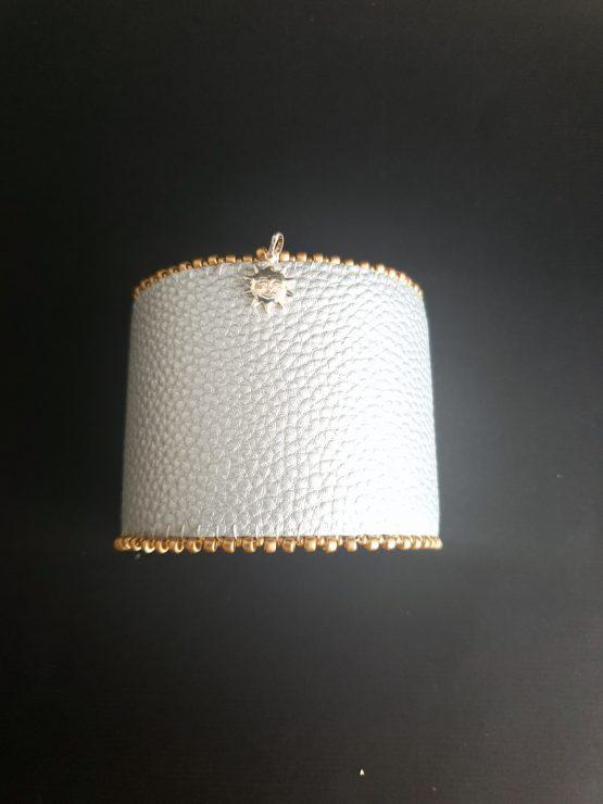 Manchette et manchon réversible doré et argent Solal Bijoux Haute Fantaisie