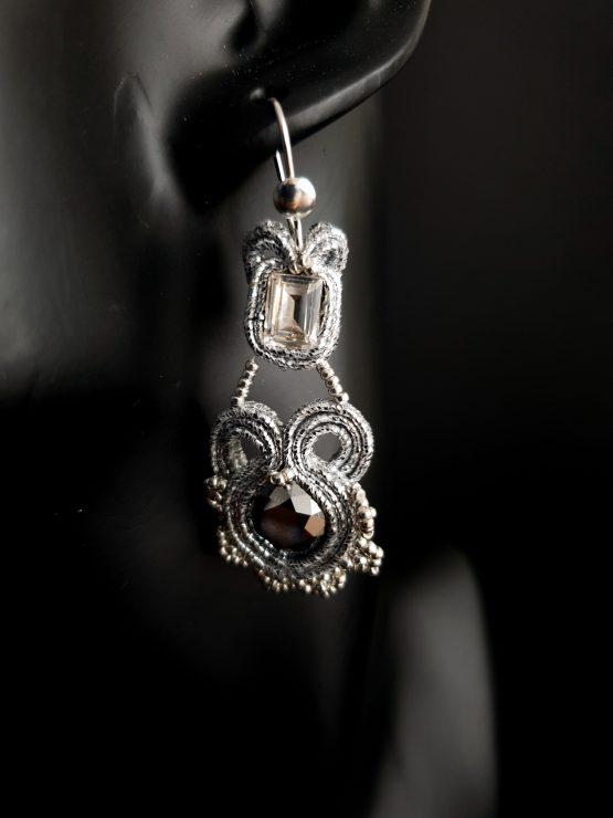 Boucles d'oreilles argentées Solal Bijoux Haute Fantaisie