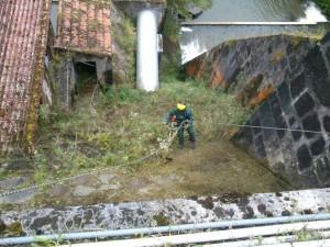 Trabajos divertidos en las presas del Nansa