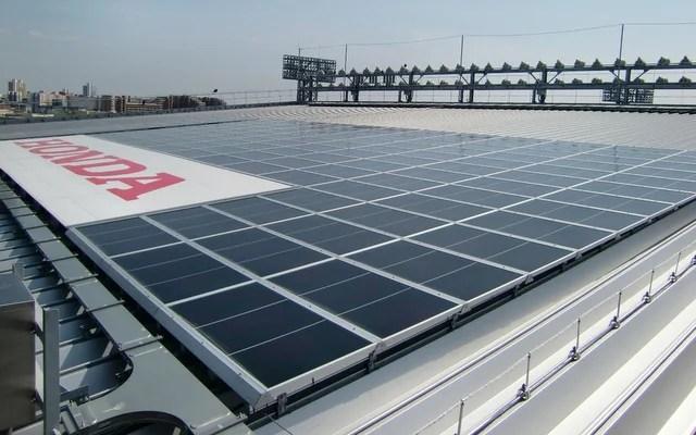 ホンダの太陽光発電パネル