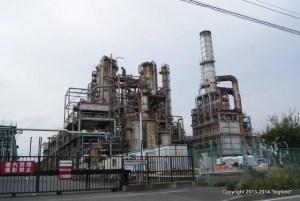 浮島にある工場