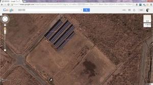 E爺氏のプチソーラー(Google Mapsの航空写真)