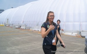 ソーラーインパルス・プロジェクト広報担当のマリーさん