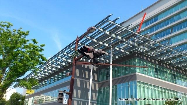 甲府市役所新庁舎の太陽光発電システム(3)