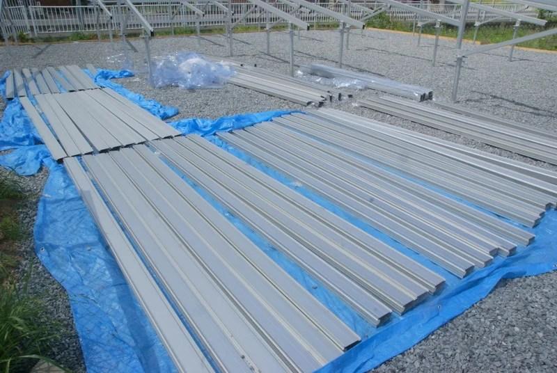 Looopのアルミ架台・パネルを設置するフレーム部材