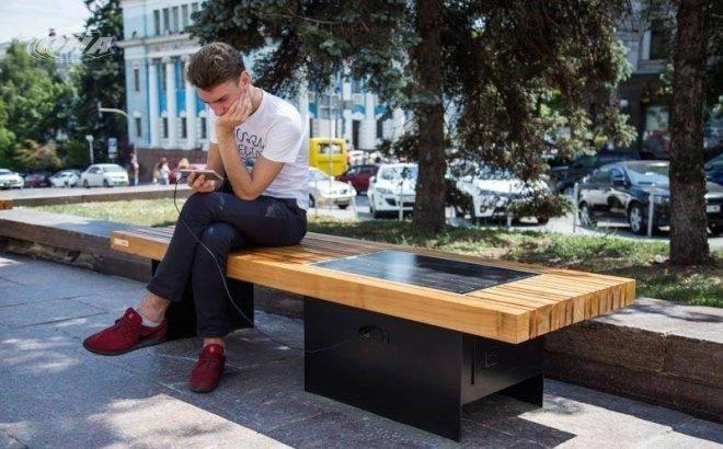 Солнечные скамейки от Сан ИнБев