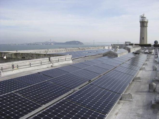 Солнечная электростанция на острове Алькатрас