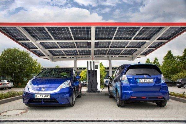 Honda + солнечная энергетика = зарядка для электромобиля
