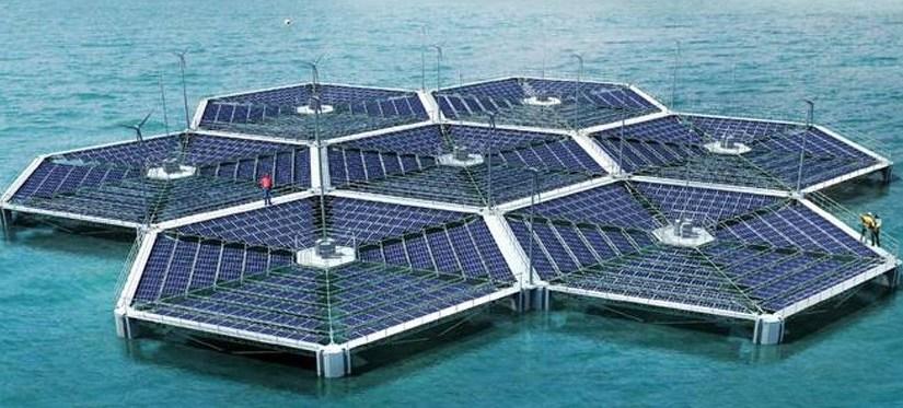 Плавучие СЭС в Персидском заливе около Дубаи