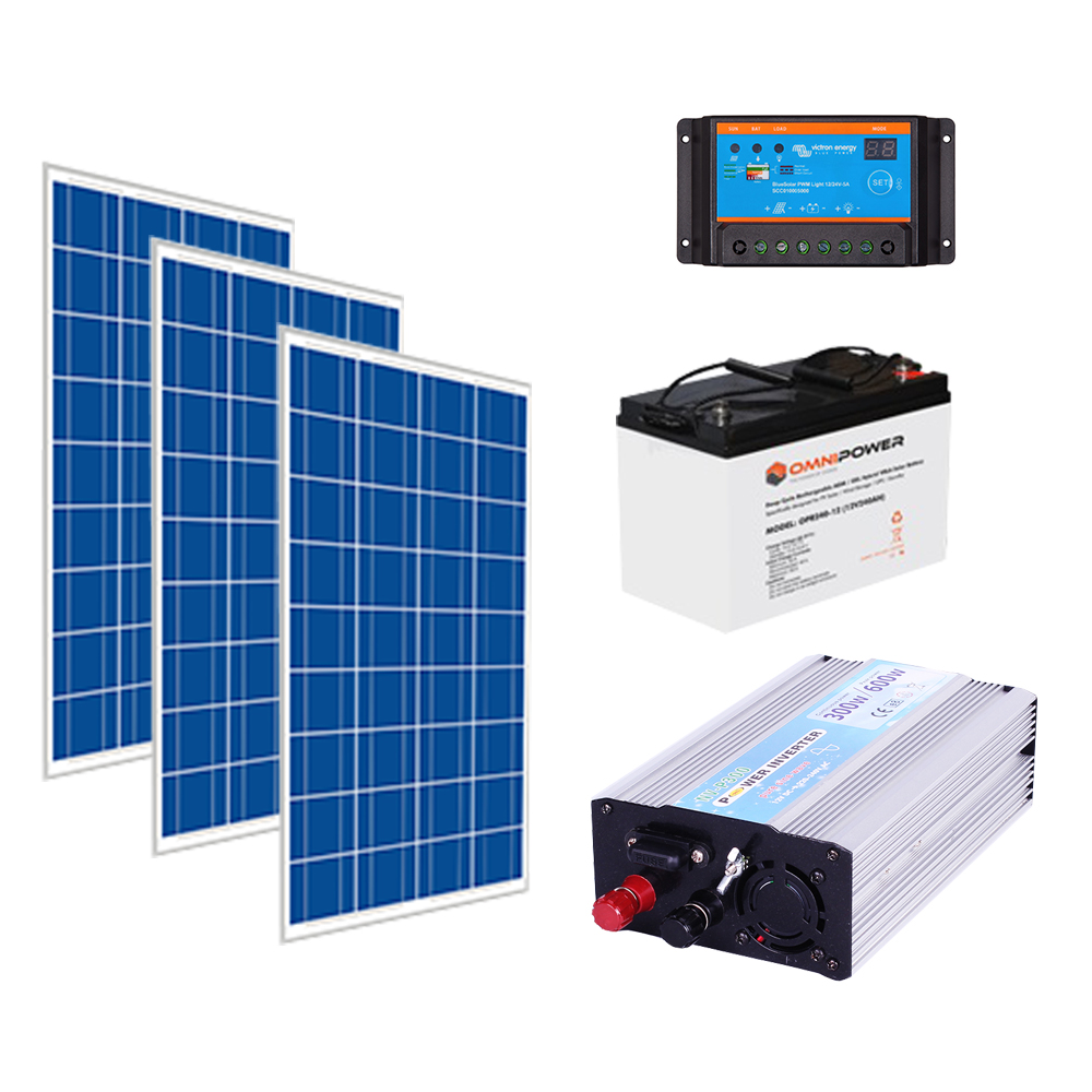 300w 12v Solar Power kit (720w storage)
