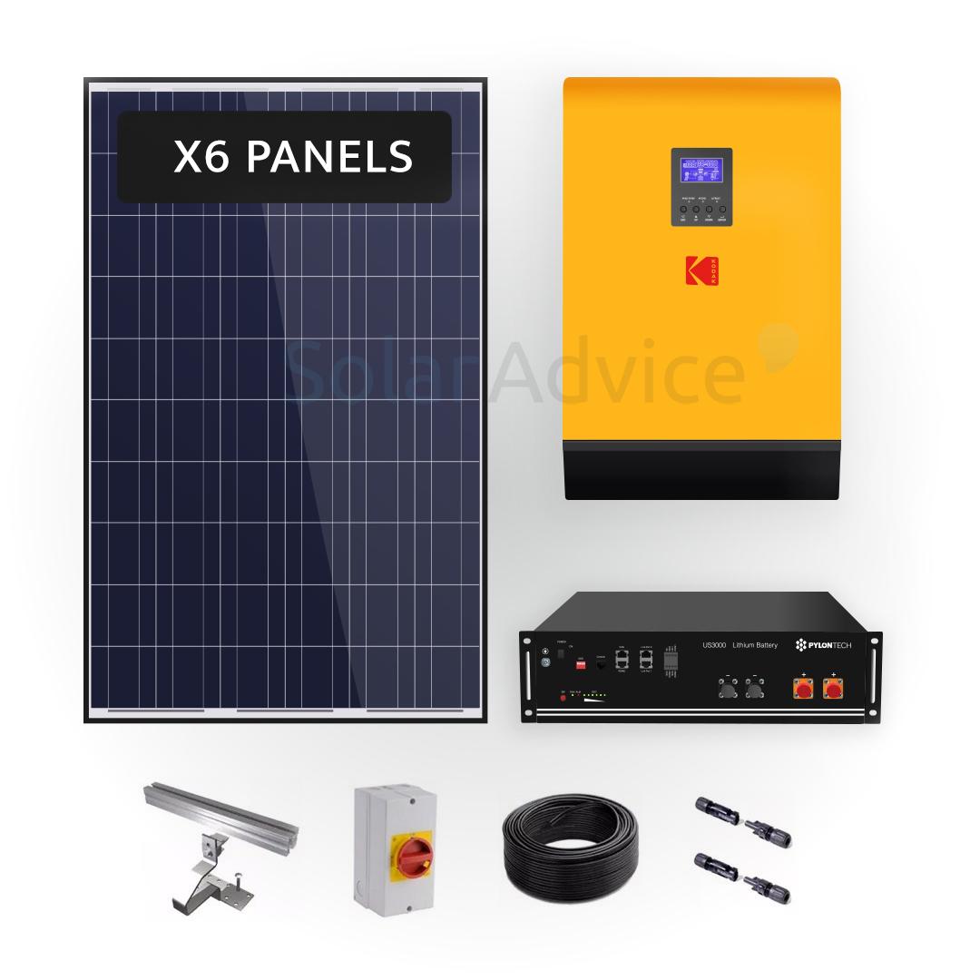 Lithium Storage 2.8kwh – KODAK Solar Power Kit