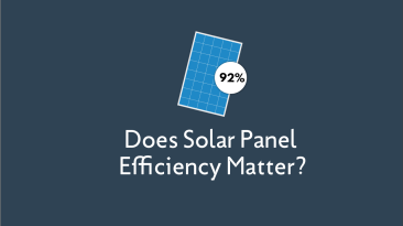 Does Solar Panel Efficiency Matter