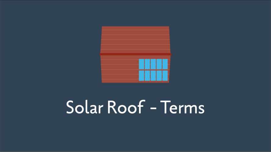 Solar Roof Terms