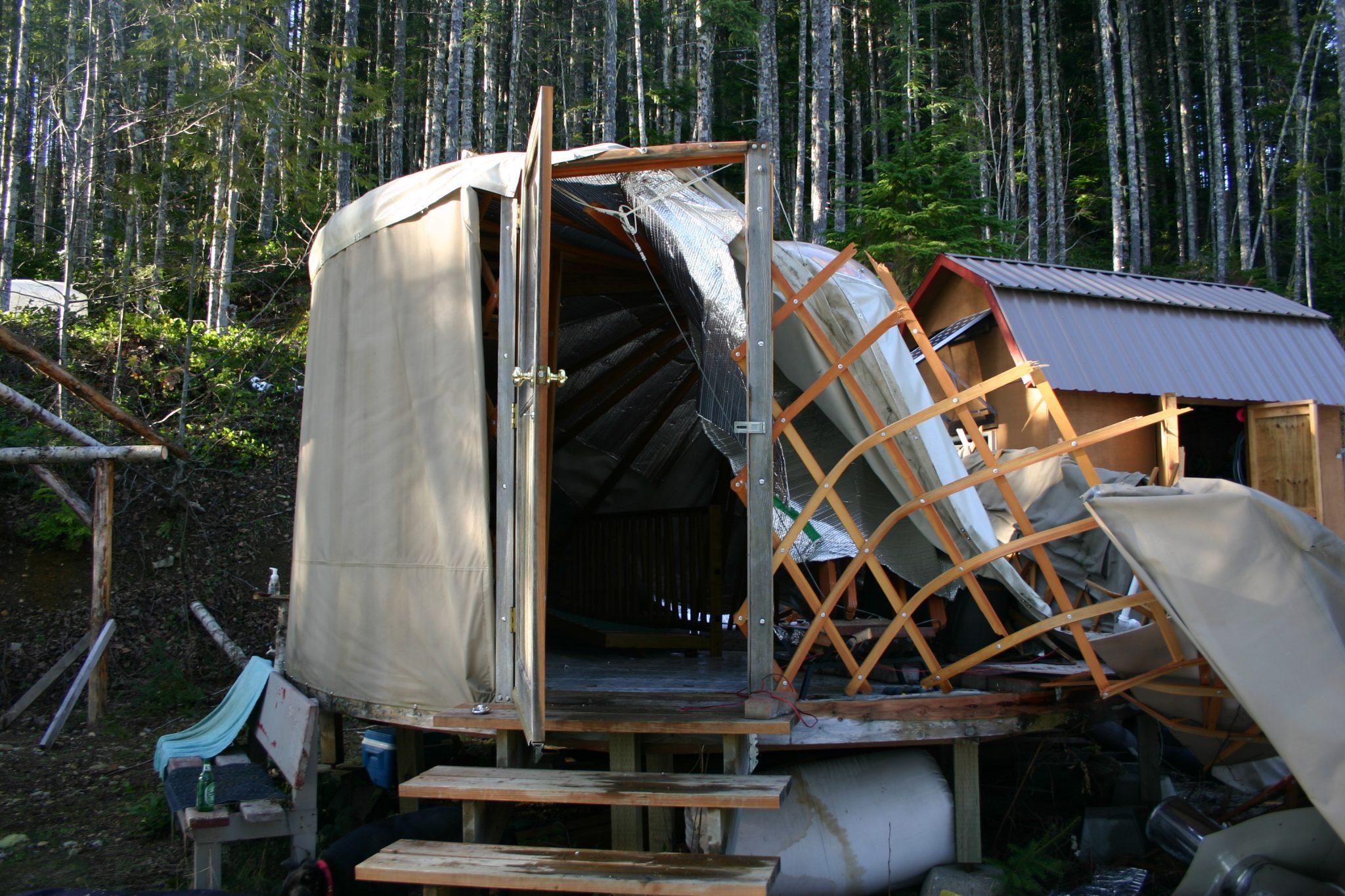 Collapsed Yurt