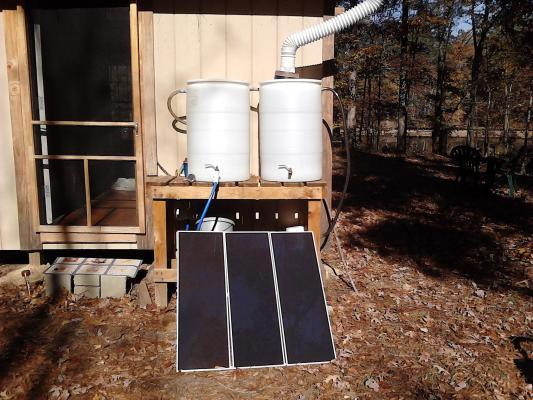 Tom S Pole Frame Off Grid Cabin Solar Burrito