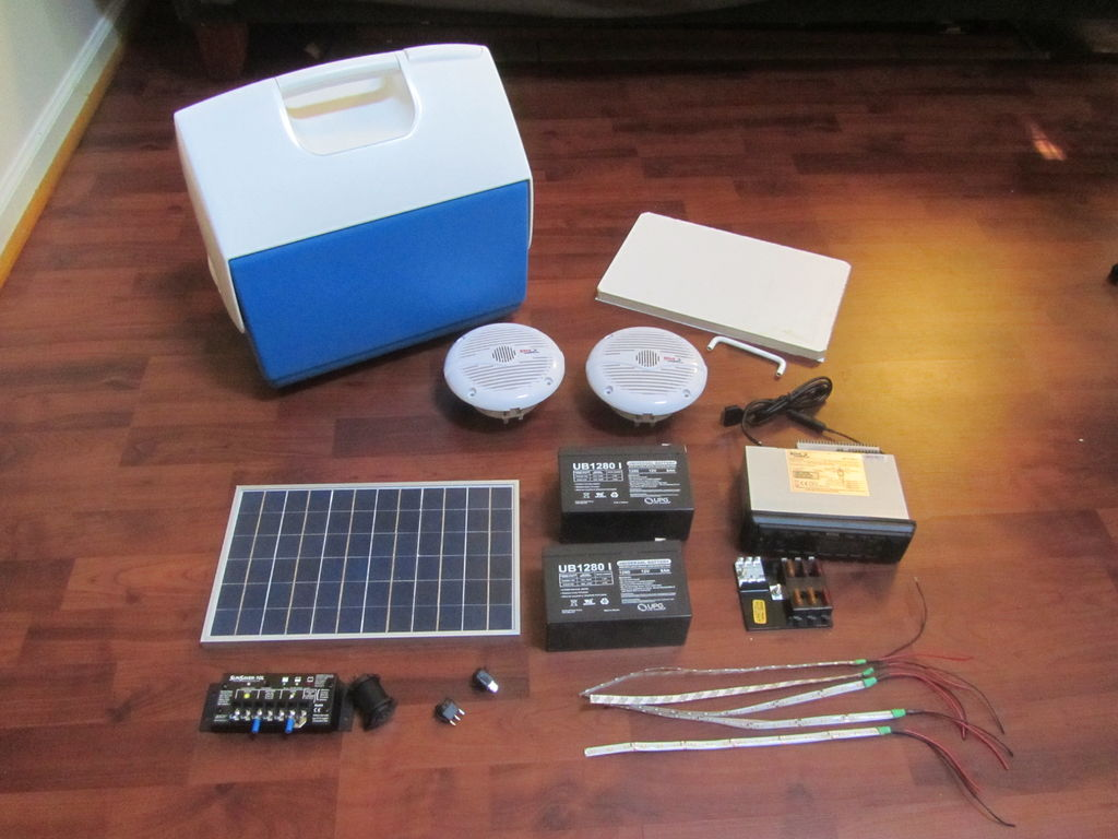 Build Your Own Solar Cooler Stereo Project Solar Burrito