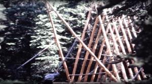 Log A-frame Alaskan Cabin