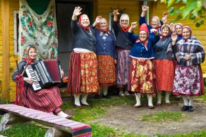 Kihnu Island, traditional clothes. Photo by Visit Estonia