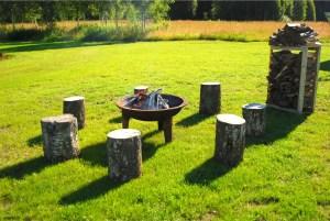Solar Caravan Park - fireplace