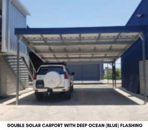 Double Soalr carport with Blue Flashing