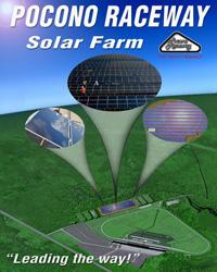 pocono speedway solar farm graphic