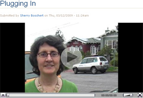 picture of woman telling her solar-charged-driving story