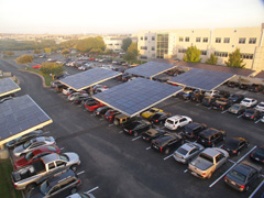 Picture of Solar Carport at Dell Computer headquarters.