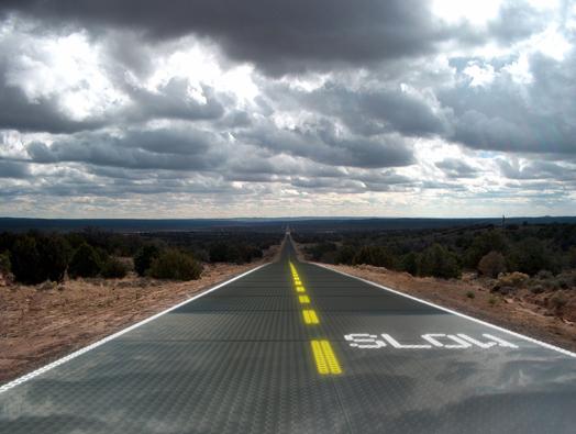 Artist Dan Walden's rendition of a Solar Roadway.