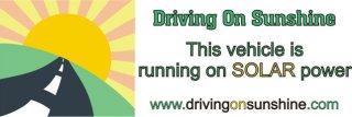drivingonsunshine