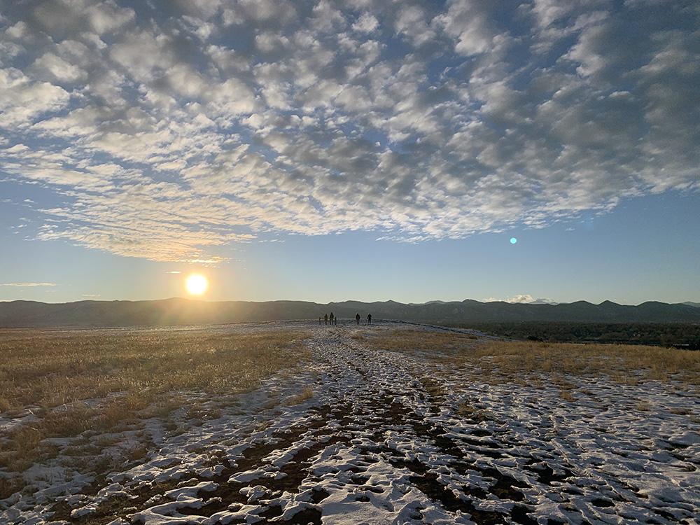 WInter clouds in Littleton, Colorado.