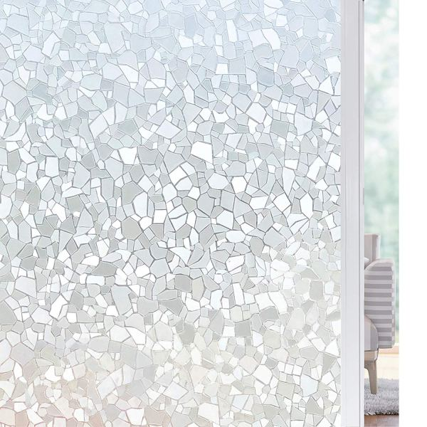 Solardiamond 3D Static Decorative Windows Films - Rock