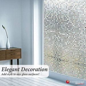 Solardiamond 3D Static Decorative Windows Films - Mini Mosaic