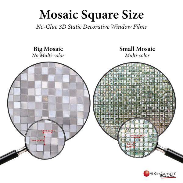 Solardiamond 3D Static Decorative Windows Films - Mini Mosaic