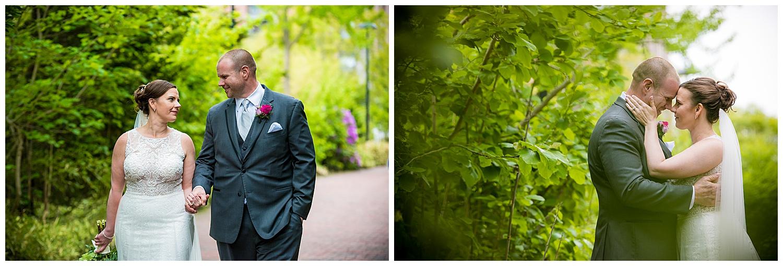 Hawthorne Hotel Wedding - bride and groom portraits