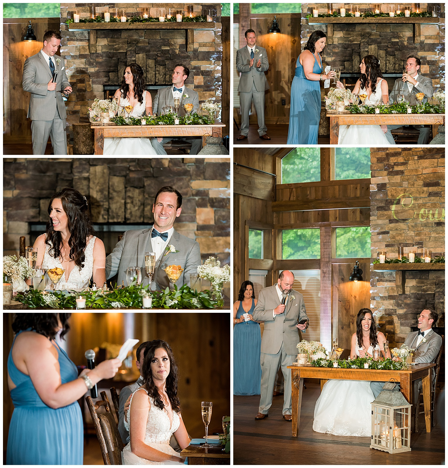 Birch Wood Vineyards Wedding Reception Toasts