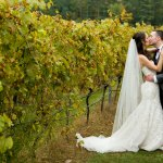 Bride and Groom Portrait Vineyard Wedding