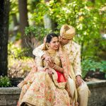 Indian Bride and Groom Couple Portrait Nashua NH Wedding