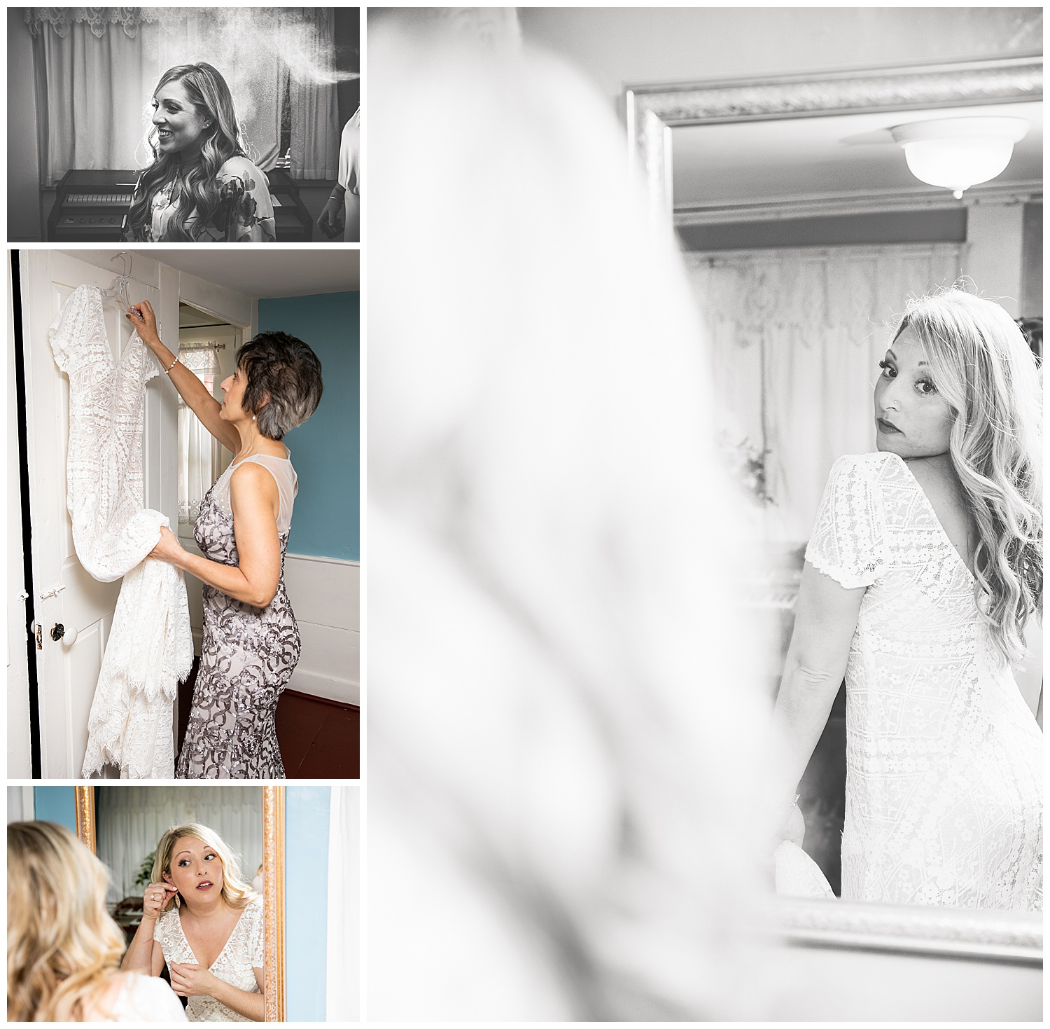 Bride getting ready,social media,