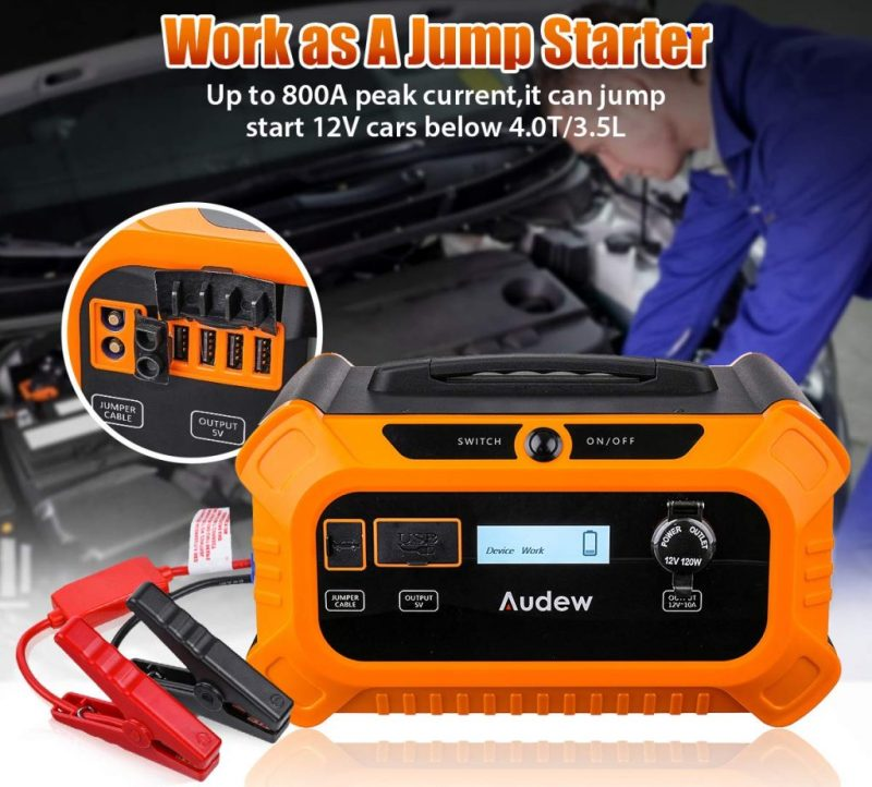 The Audew 500Wh Solar Generator Can Also Act An A Jump Starter For Cars