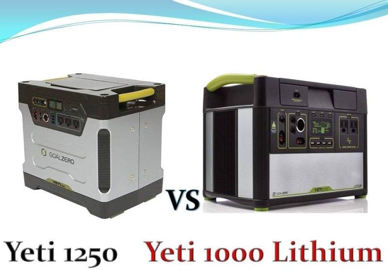 Goal Zero Yeti 1000 Lithium Vs Yeti 1250