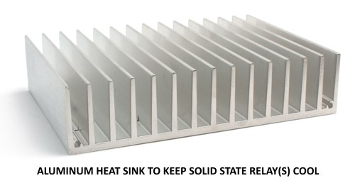Aluminum heat sinks are great for keeping SSRs cool.