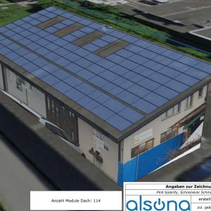 Plan Solaranlage VIllmergen